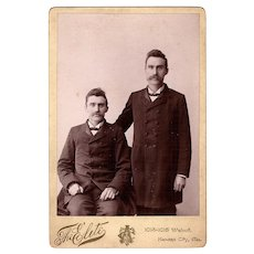 Antique Cabinet Photo of Identical Twins from Kansas City Missouri Named