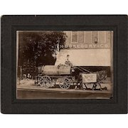 Rare Antique Occupational Peddler Cabinet Photo Gibson City Illinois Ford County