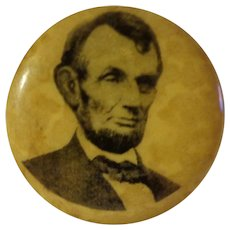 Authentic 1909 Abraham Lincoln Pinback Rare Blue Back