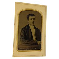 Rare Antique Tintype of a Blind Man 1880 Ferrotype Photograph
