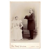 Very Rare Antique Interracial Wedding Photograph from Iowa