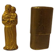 WWII Soldier's Pocket Shrine Italian St. Anthony of Padua Military