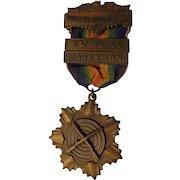 Rare WWII Era 12th Naval District Shooting Medal San Francisco Rifle US Navy