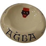 Rare Turkish Ashtray from the Agba Hotel & Restaurant in Adana Turkey Golli Graphic Ottoman