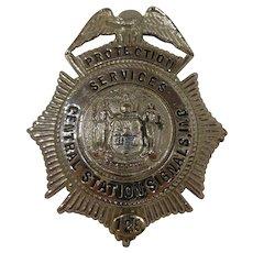 Vintage Braxmar New York Central Station Badge