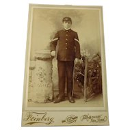 Antique Military Cabinet Photo of a Young Cadet Indian Wars Era by Feinberg of New York