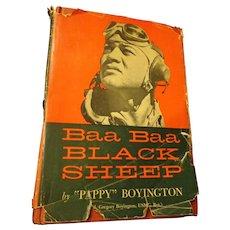 Baa Baa Black Sheep USMC Pilot WWII Book Pappy Boyington