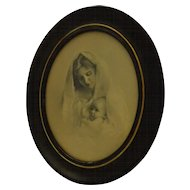 Late Victorian 1899 Madonna and Child Print Knaffl Brothers Mother
