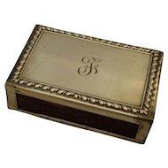 Vintage William Ruser Sterling Silver Match Safe Box Holder Initialed F
