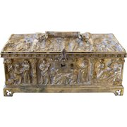 Bronze Jewelry Box gifted to a Nun by Nettie Poe Ketcham Niece of Edgar Allan Poe