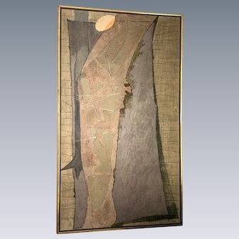 "Lee Gatch Natural Stone and Mix Media on Wood Titled ""Sebastian"" ca. 1962"