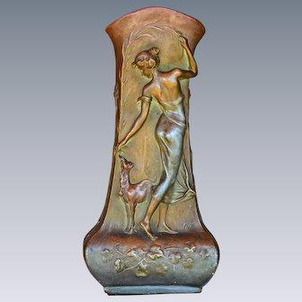 Art Nouveau Ceramic Vase