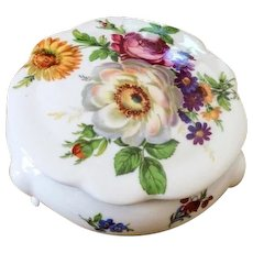 NOW SOLD French Jewelry Box Floral Limoges Porcelain