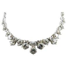 Bogoff Sparkly Glass Necklace, Art Deco 1940s Vintage Jewelry SALE