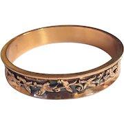 Renoir Copper Bangle Bracelet, Floral, Leaf, Vintage Jewelry SPRING SALE