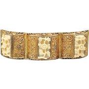 Chinese Bracelet, Vermeil, Silver 800, Art Deco Renaissance Vintage Jewelry SALE