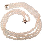 Art Deco Necklace, Crystal Glass, Multi Strand, Wedding Vintage Jewelry SUMMER SALE