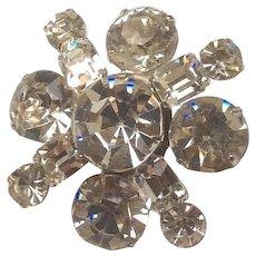 Kramer of New York Crystal Glass Brooch, Vintage Jewelry SALE