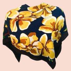 Tiffany Chiffon Silk Scarf, Parrots, Tropical, Vintage Ladies Accessories