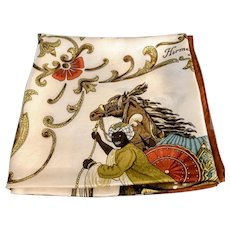 Hermès Silk Scarf, Cheval Turq, Brown Colourway, Vintage Accessory