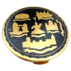 Kigu Mid Century Compact, London Souvenir, Black Gold