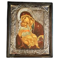 Madonna and Child Icon (0.950 Sterling)