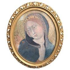 Vintage Framed Madonna Print