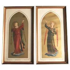 Pair of Trumpeting Angel Prints