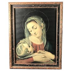 Antique Madonna and Child Print