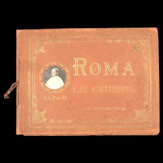 Rome: The Churches Souvenir Photo Book (Circa 1922)