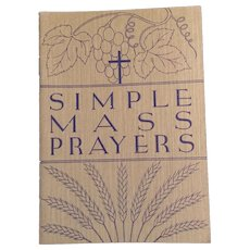 1938 Simple Mass Prayers, 4 Volume Set