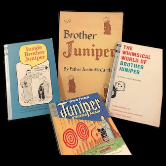 Brother Juniper Comic Strip Collection Books, Lot of 4