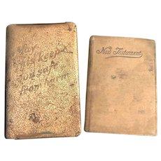 WWII Soldier's Heart Shield Prayer Book & New Testament