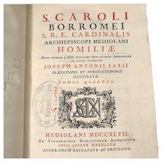 Homilies of Saint Charles Borromeo, 1747
