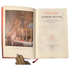 1961 Fulton Sheen Sunday Missal with Case