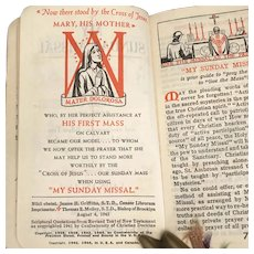 1944 My Sunday Missal Explained by Fr Stedman, Large type