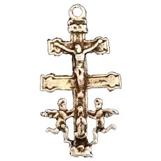 Antique Caravaca Crucifix Pendant