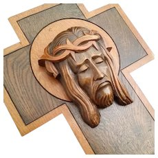 Art Deco Cross with the Holy Face of Jesus