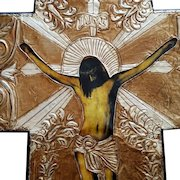 Huge Vintage Mexican Crucifix