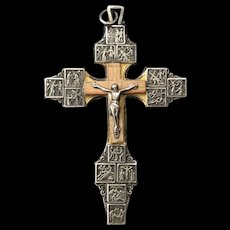 Pectoral Crucifix with Stations of the Cross and Pope Pius XII
