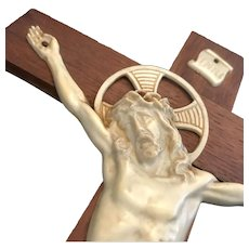 Art Deco Crucifix with Bakelite Corpus