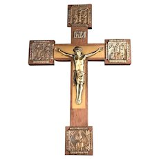 Crucifix with Four Icons