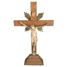 Large Crucifix with Pope Pius XI Medal