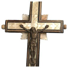 Antique Crucifix with Stations of the Cross