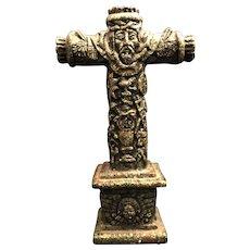 Aztec-Style Mosaic Crucifix