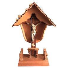 Vintage Tabletop Wayside Crucifix