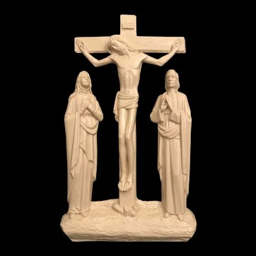 Wall Crucifix with Mary & John