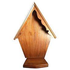 Vintage Wooden Oratory, Statuary Niche