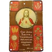 Sacred Heart of Jesus Plaque