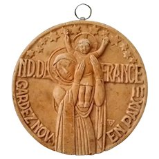 Our Lady of France Madonna & Child Plaque